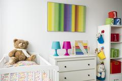 Rainbow themes in child room Stock Photos