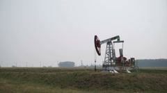 View of oil derrick.. Stock Footage