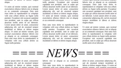 Scrolling newspaper with Lorem Ipsum text, seamless loop video Stock Footage