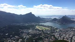 Rio de Janeiro city seen from mountain top Stock Footage