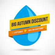 Autumn Sale Discount Logo or Emblem Stock Illustration