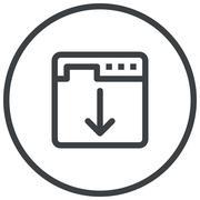 Landing Page Optimization Stock Illustration