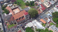 Aerial Santo Domingo city view, Dominican Republic Stock Footage