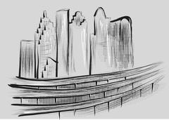 Houston Stock Illustration