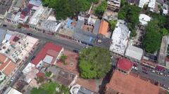 Aerial Santo Domingo city view, Dominican Republic Stock Footage
