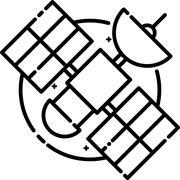 Satellite floating in space Stock Illustration