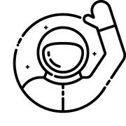 Astronaut welcomes you Stock Illustration