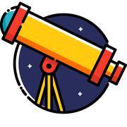 Telescope Stock Illustration