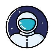 Astronaut in space Stock Illustration
