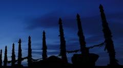Serge Poles. Sunrise over the island of Olkhon, Lake Baikal, Irkutsk region Stock Footage