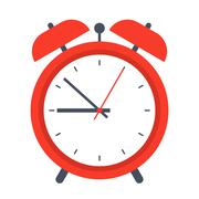 Retro alarm clock Stock Illustration