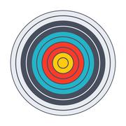 Classic archery target Stock Illustration