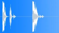 Metal Drops Diamond Plate Big Drops Series x 2 Concrete Crash Swings Clanks Clo Sound Effect