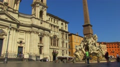 Piazza Navona 6 Stock Footage