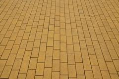 Yellow paving slabs Stock Photos