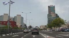 Israel. Tel Aviv, the city center. thoroughfare Stock Footage