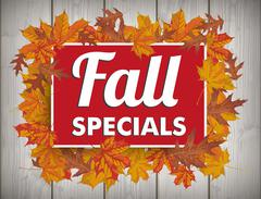 Board Autumn Foliage Fall Specials Wood Stock Illustration