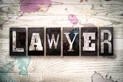 Lawyer Concept Metal Letterpress Type Stock Illustration
