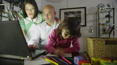 4K Busy father working at home Stock Footage