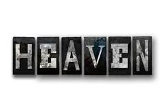 Heaven Concept Isolated Letterpress Type Stock Illustration