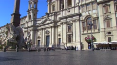 Piazza Navona 7 Stock Footage