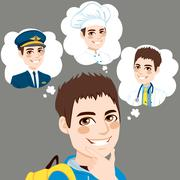 Boy Career Choice Stock Illustration