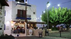 Hersonissos. Crete Island, Greece The cozy taverna  Stock Footage