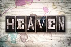 Heaven Concept Metal Letterpress Type Stock Illustration