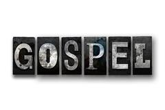 Gospel Concept Isolated Letterpress Type Stock Illustration