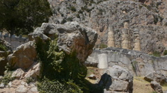 Pythia rock from Delphi oracle Stock Footage