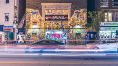 Lees Palace Bloor Street Toronto Music Venue Street Traffic Timelapse 5k Stock Footage