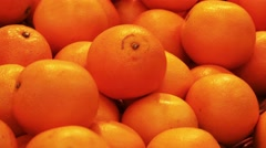 Fresh mandarin or oranges in the mall Stock Footage