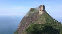 Pedra da Gavea in Rio de Janeiro on cloudy day 4k Stock Footage