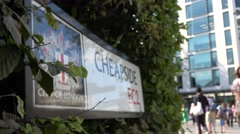 Cheapside street sign city of london ec2 Stock Footage