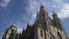 Gothic and Romanesque architecture of St. Stephen's Cathedral Stock Footage
