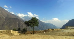 View in Himalayas, Nepal, the trek to Everest base camp. Stock Footage