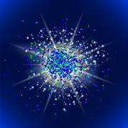 Glitter Particles Pattern. Star Dust. Stock Illustration