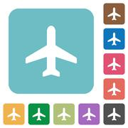 Flat airplane icons Stock Illustration
