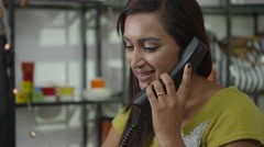 4K Happy Asian woman is working from home Stock Footage