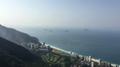 Beautiul coast line with new luxury housing in Rio de  Janeiro 4k Stock Footage