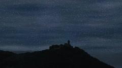 Night sky time lapse Stock Footage