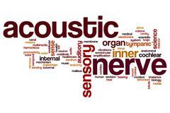 Acoustic nerve word cloud Stock Illustration
