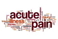 Acute pain word cloud Stock Illustration
