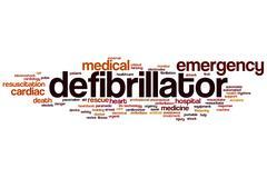Defibrillator word cloud Stock Illustration