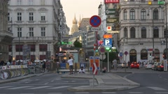 Beautiful old architecture of Vienna on city center Stock Footage
