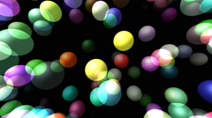 Flying transparent spheres generated 3D video Stock Footage