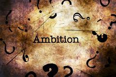 Ambition text grunge concept Stock Illustration