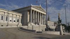 Moving towards Austrian Parliament Building Stock Footage