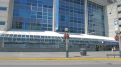 Rogers Center Front Sign CN Tower Toronto Entrance Tourismmp4 Stock Footage