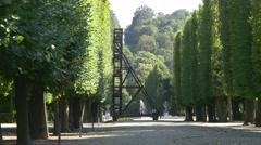 Arrangement for pruning big trees in Schonbrunn garden Stock Footage